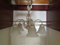 5 branch traditional antique style ceiling shaded chandelier