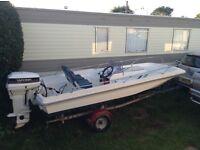 Dell quay Dory speedboat. 50 hp ELOPTT .