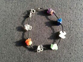 Multi-coloured Stone Bracelet