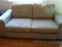Sued two seater contemporary sofa from Reid