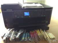 Epson workforce A3 all in one printer, scanner, copier and fax, plus inks
