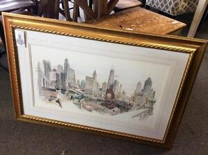 """""""Chicago Now"""" Print by George Becker, M.B."""