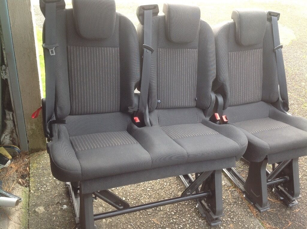 Used Ford Transit Connect >> Transit Custom Tourneo Rear Seats Folding Removeable Isofix T5 Transporter Possible | in Truro ...