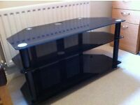 Black/glass TV stand for sale - £50