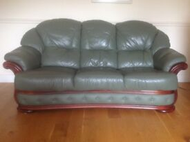 Excellent Leather Suite 3-1-1 Green