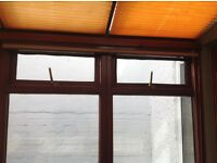 6 fabric blinds for conservatory or sun room windows