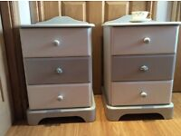 Shabby chic bedside tables (pair)