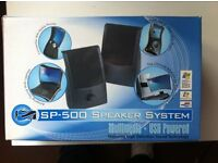 Portable speakers & router