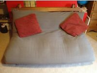Good quality futon bed with recently new matress