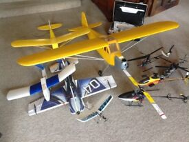 Remote control model airplanes & helicopters