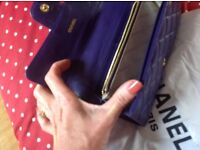 Chanel quilted purple purse