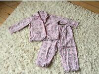 Pink warm pjs 2-3 years good condition