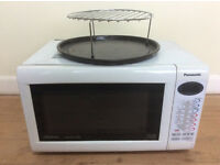Panasonic white combination microwave, oven & grill