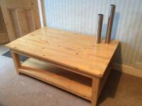 HABITAT solid heavy wood COFFEE TABLE