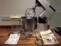 KENWOOD MAJOR food mixer with large s/s bowl, and liquidiser.