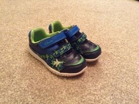 Child's Clarks shoes, size 6 1/2 G, worn but in good condition