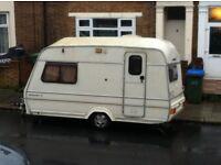 Caravan camper van mobile home trailer 2 birth / bed motor swap for van / car or cash selling cheap