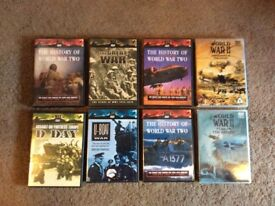 Selection dvds - world war 1 and 2.