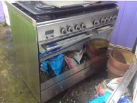 FREE!! Range cooker. Main oven not working, but can be fixed or sold for scrap