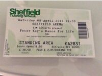 Peter Kay - Dance for Life - Sheffield Arena - Sat 8th April 2017 - 4 Tickets Available - £30 EACH