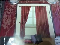 Brand new red jacquard curtains forsale