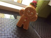 Ceramic ginger bread cookie / biscuit jar