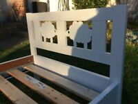 Ikea KRITTER junior bed frame with slatted bed base, white, 70x160 cm, with safety bar