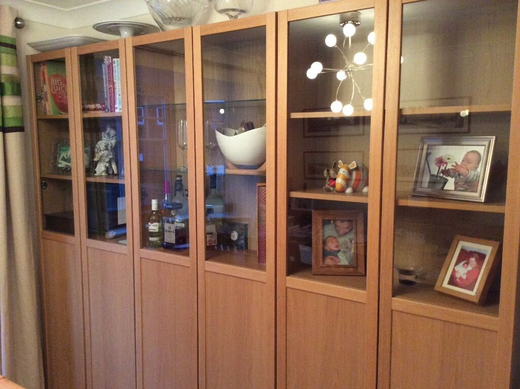 Ikea billy bookcases with glass 28 images living room for Acme kitchen cabinets calgary