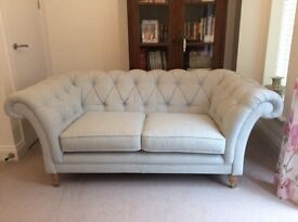 Laura Ashley blue check made to order Hudson sofa perfect condition