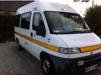 Fiat Ducati 2.5 Diesel Converted Ambulance Campervan Full 12 months MOT Oven Grill Hob Fridge