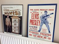 Two Elvis wall plaques