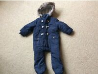 Baby boys 6-9 months snowsuit pramsuit - great condition