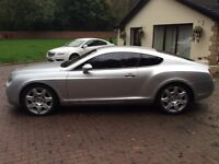 2005 05 Bentley continental gt mulliner coupe cheapest in country,silver,full mulliner spec,