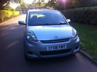 Daihatsu Sirion SE, 2008, 5 Doors Hatchback, 1 Liter Engine, 1 Year MOT, £31.50 A Year For Road Tax.