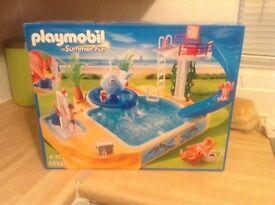 Playmobil summer fun swimming pool.