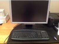 "Microsoft Keyboard and MW 22"" Monitor"