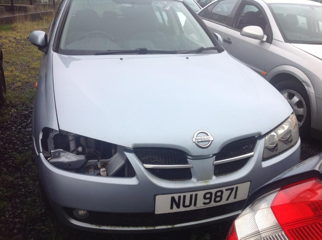2004 NISSAN ALMERA SVE 1.5 PETROL BREAKING FIR PARTS ONLY POSTAGE AVAILABLE NATIONWIDE