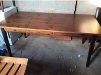 Next dark wooden table