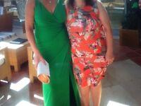 Ralph Lauren Green Stunning Dress size 10 to 12
