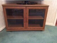 Wooden tv corner unit suitable for TV and sky box and DVD player