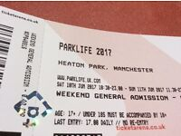 ** PARKLIFE FULL WEEKEND TICKETS ** x2 £100 each
