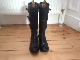 Vintage long black boots - worn twice