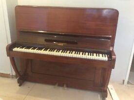 Upright medium brown piano Collingwood good condition