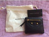 Balenciaga black card/driving licence holder small purse