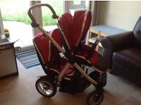 Oyster Max Tandem (double) pram system (£200)