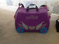 Trunki ride on suitcase purple Penelope