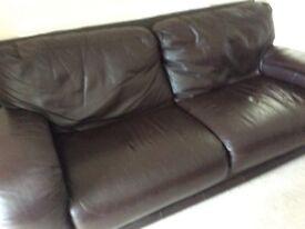 Sofa footstool leather