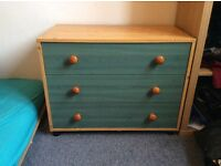 Shelf of drawers (apple green color)