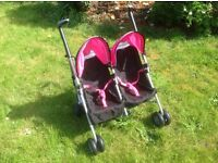 Doll's double buggy