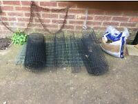 PLASTIC PLANT SUPPORT black and green 55cm high approx.
